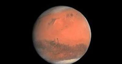 Human And Mars Planet