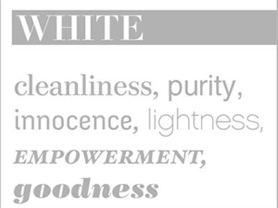 Your Perception on Colour White