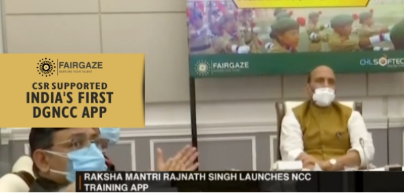 FairGaze CSR Supported NCC Training App Launched by Defence Minister Rajnath Singh