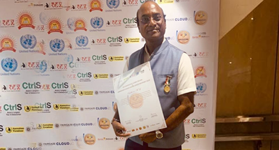 Sudheen M, Founder of FairGaze, Leading School-focused Media, Awarded REX Karmaveer Chakra Gold Award